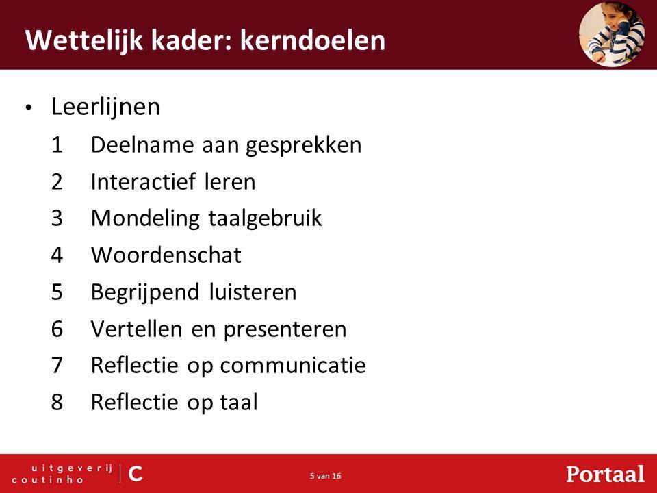 16 van 16 Omgaan met verschillen Logopedie Luistervaardigheid Spreekvaardigheid Eerste- en tweedetaalsprekers Hoogbegaafde leerlingen