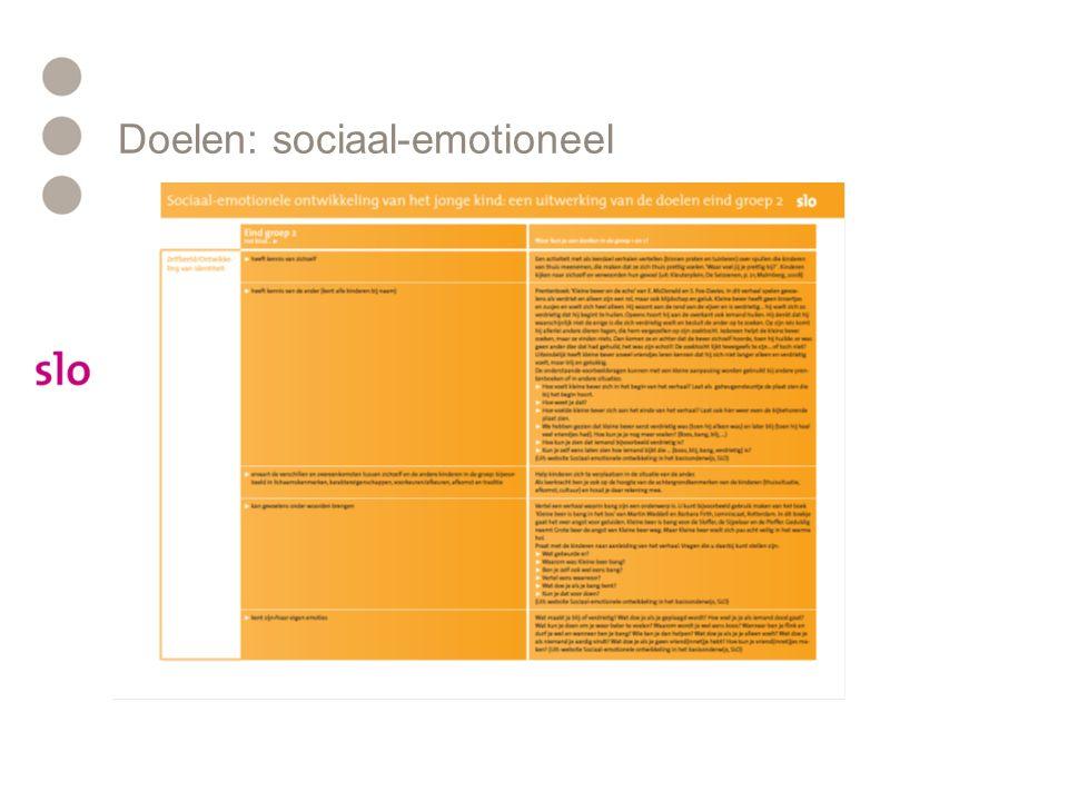 Doelen: sociaal-emotioneel