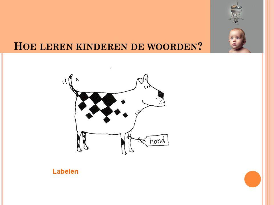 Hoe leren kinderen woorden H OE LEREN KINDEREN DE WOORDEN