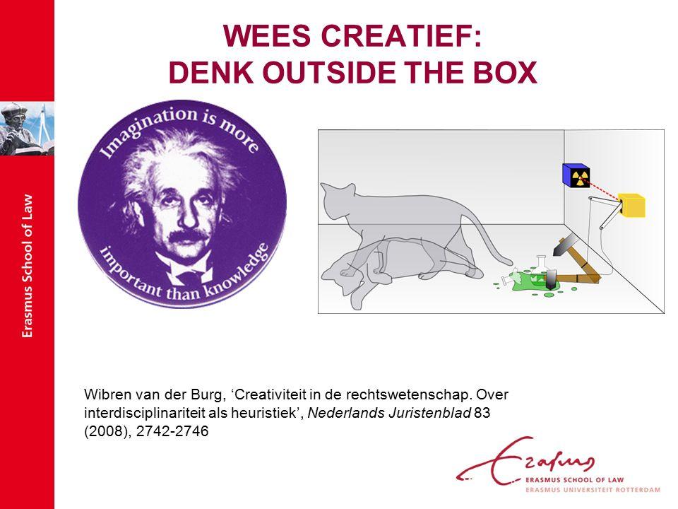 WEES CREATIEF: DENK OUTSIDE THE BOX Wibren van der Burg, 'Creativiteit in de rechtswetenschap.
