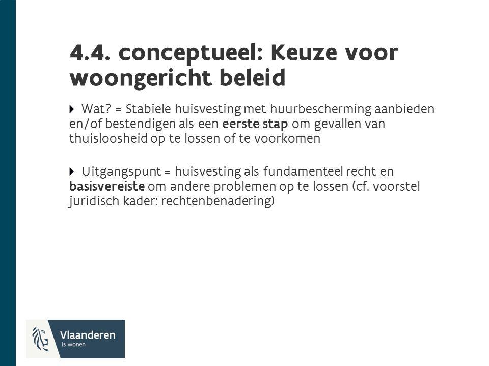 4.4. conceptueel: Keuze voor woongericht beleid Wat.