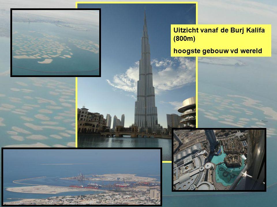 Uitzicht vanaf de Burj Kalifa (800m) hoogste gebouw vd wereld