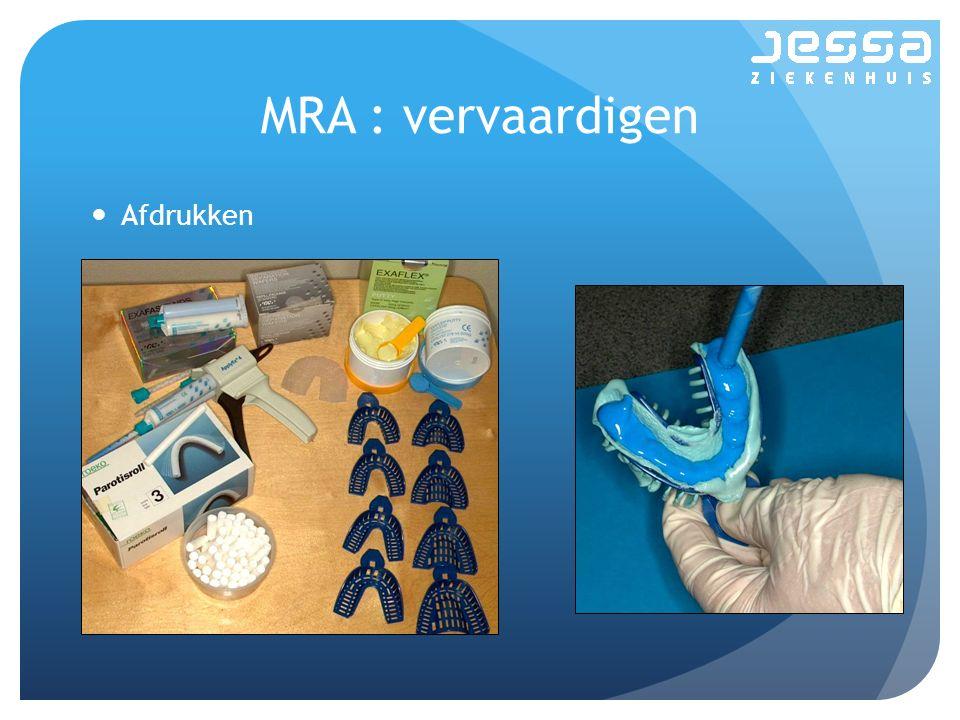 MRA : vervaardigen Afdrukken