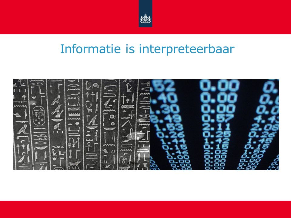 Informatie is interpreteerbaar