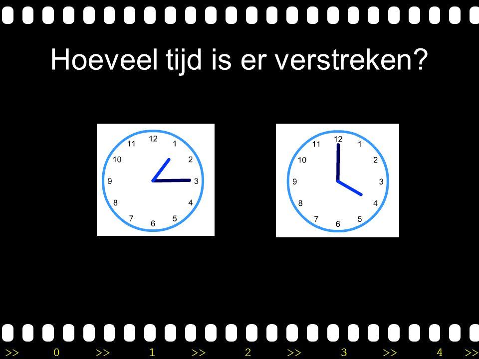 >>0 >>1 >> 2 >> 3 >> 4 >> Uitleg Op de eerste klok is het 7 uur. Op de tweede klok is het kwart over 10. Ik tel van 7 uur, 3 uur verder naar 10 uur. D