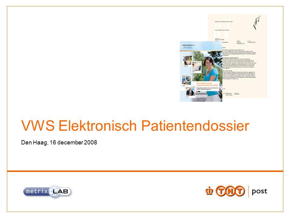 VWS Elektronisch Patientendossier Den Haag, 16 december 2008
