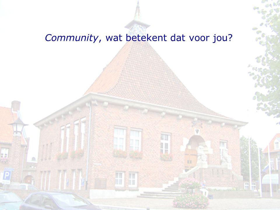 Community, wat betekent dat voor jou