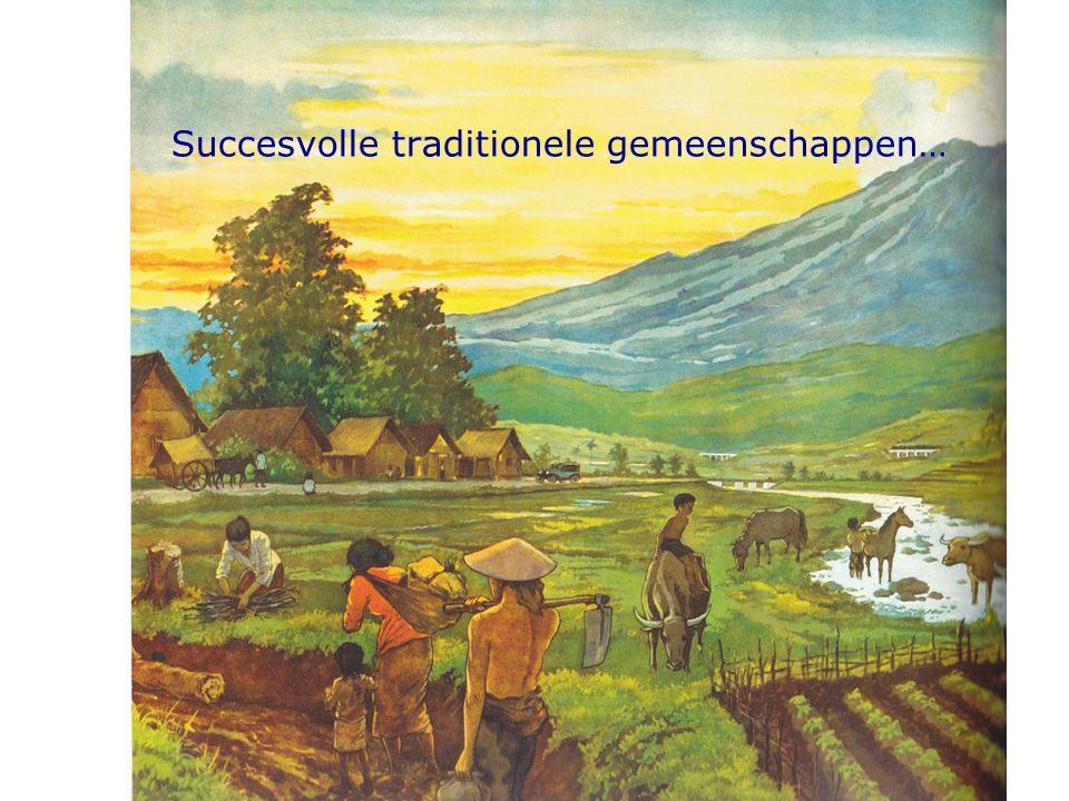 Succesvolle traditionele gemeenschappen…