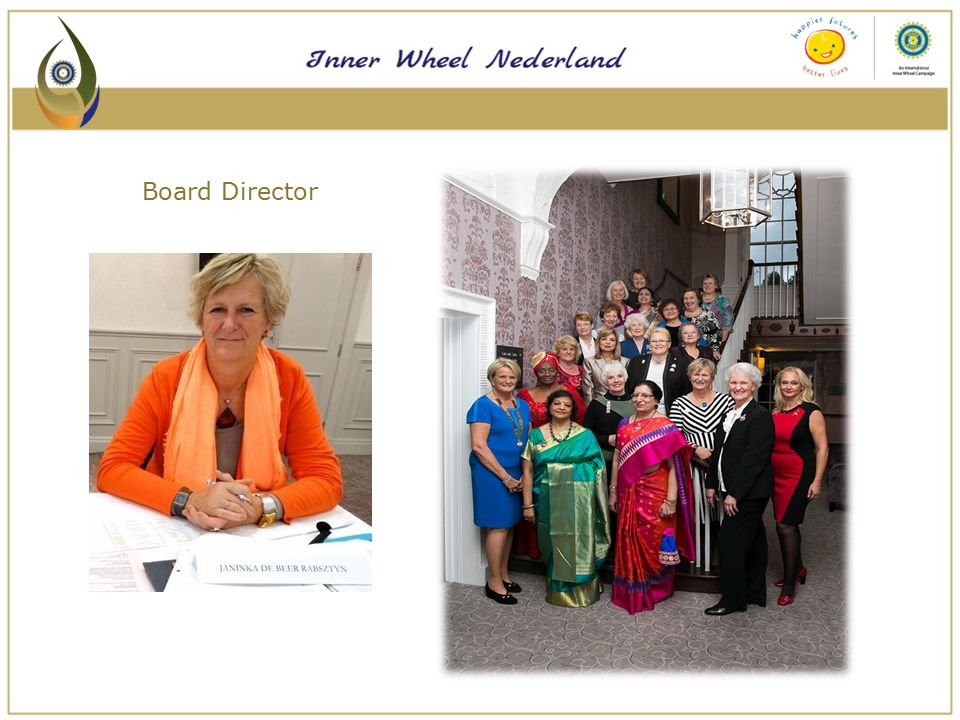 VOOR HET GOEDE DOEL  Activiteiten om gelden bijeen te brengen  'Handen uit de mouwen' projecten  Inzetten voor NL doet