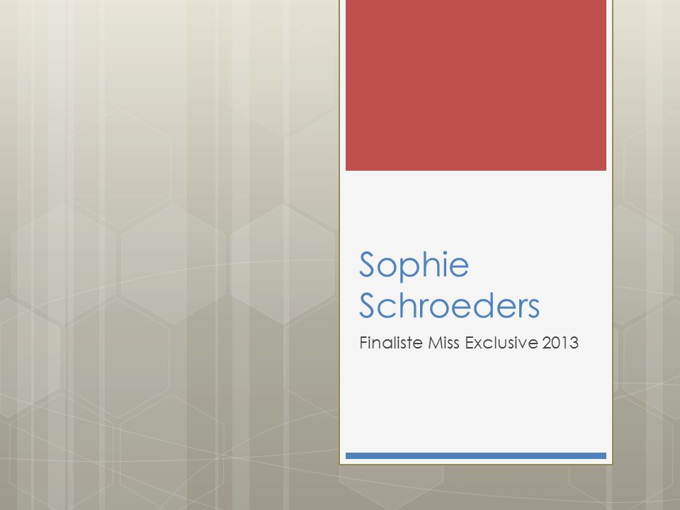 Stem dan gratis via www.missitems.be POLL: Miss Exclusive 2013 Naam & email ingeven Scrol naar nummer 4 Sophie Schroeders & Druk op STEM !!
