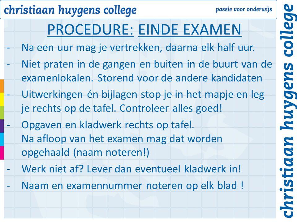 -Schoolexamencijfers -Controleer deze goed: -Juiste cijfers van de T- en P cijfers per vak -Is Magister juist ingesteld m.b.t.