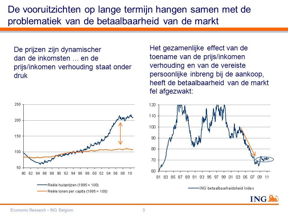 Do not put content on the brand signature area Orange RGB= 255,102,000 Light blue RGB= 180,195,225 Dark blue RGB= 000,000,102 Grey RGB= 150,150,150 ING colour balance Guideline www.ing-presentations.intranet Economic Research – ING Belgium16 De demografie heeft dus gevolgen voor de marktactiviteit (op de langetermijntendens ervan) Vanaf 2014 zal de markt naar verwachting opnieuw dynamischer worden voor de huizen Impact op de activiteit – woonhuizen (2)