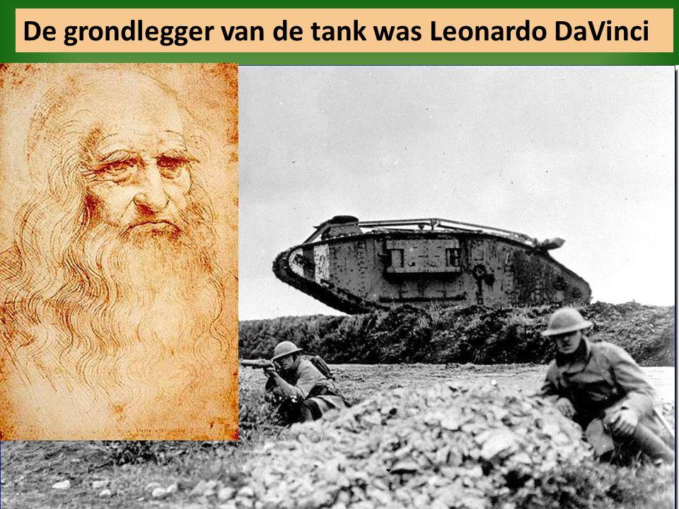 De grondlegger van de tank was Leonardo DaVinci