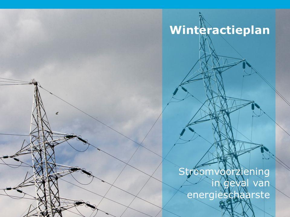 Stroomvoorziening in geval van energieschaarste Winteractieplan