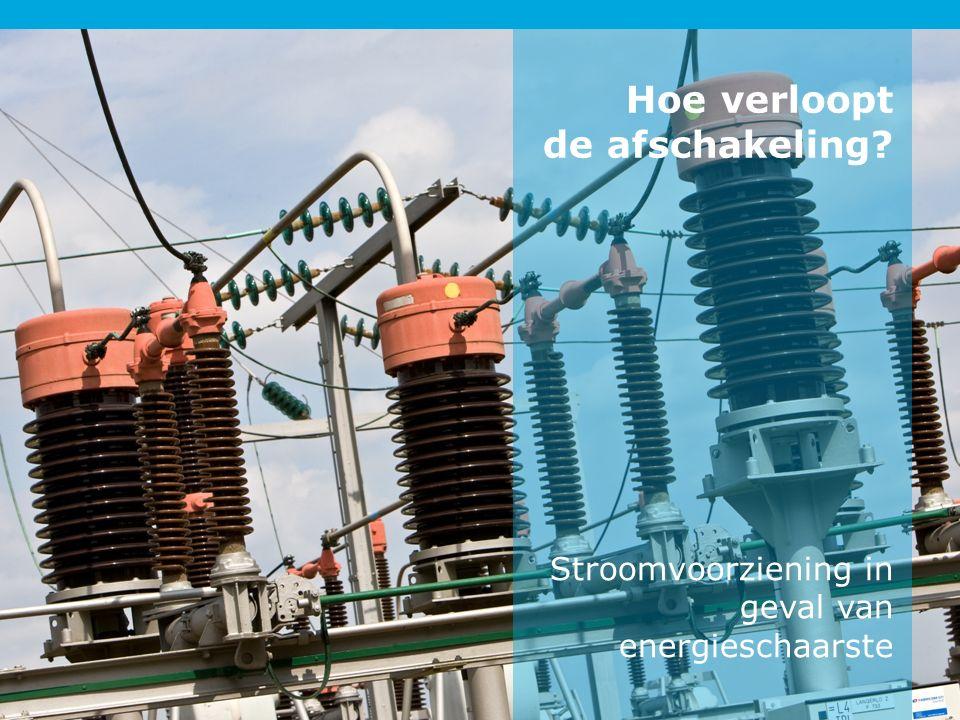 Stroomvoorziening in geval van energieschaarste Hoe verloopt de afschakeling?