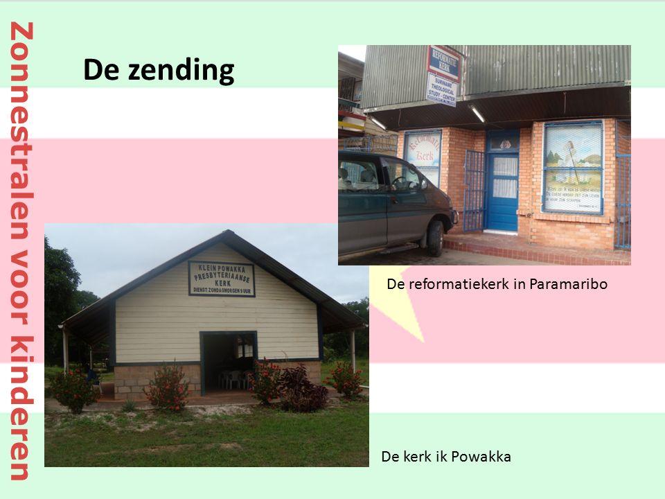 De reformatiekerk in Paramaribo De kerk ik Powakka De zending