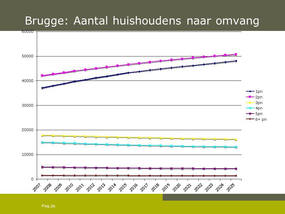 Pag. Brugge: Aantal huishoudens naar omvang 26