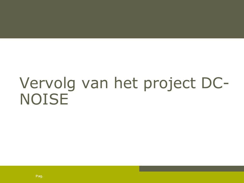 Pag. Vervolg van het project DC- NOISE
