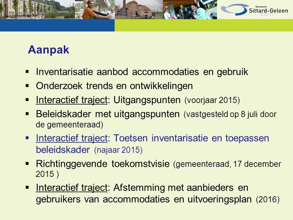 Beleidskader Spreidingsmatrix  Meest reëel op dit moment  Doorontwikkeling o.b.v.