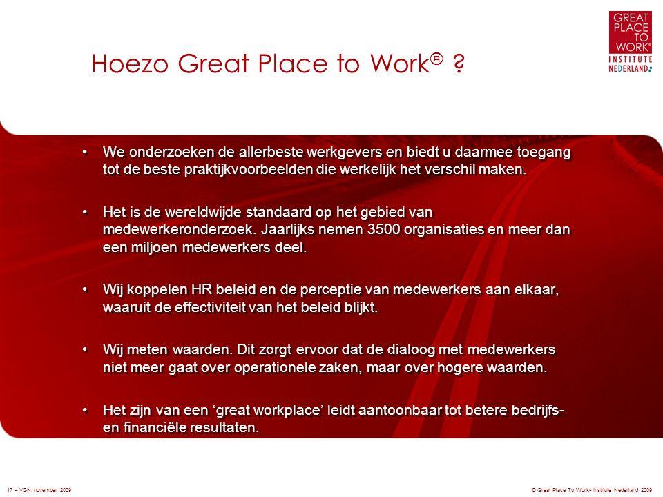 We onderzoeken de allerbeste werkgevers en biedt u daarmee toegang tot de beste praktijkvoorbeelden die werkelijk het verschil maken.
