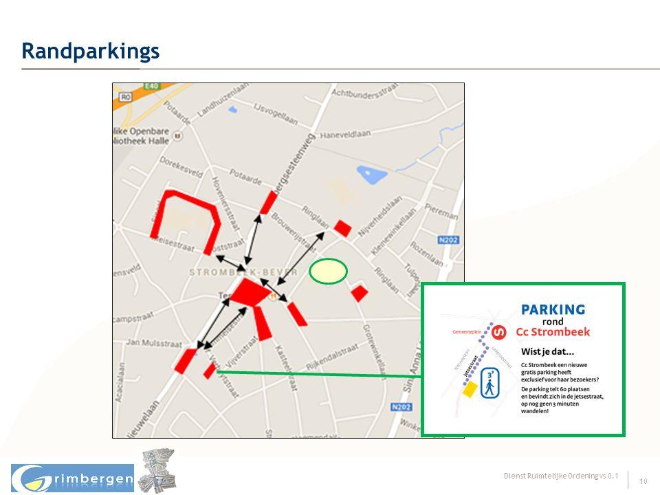 Dienst Ruimtelijke Ordening vs 0.1 10 Randparkings
