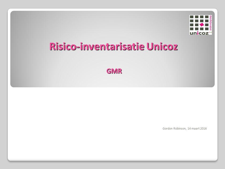 Risico-inventarisatie Unicoz GMR Gordon Robinson, 14 maart 2016