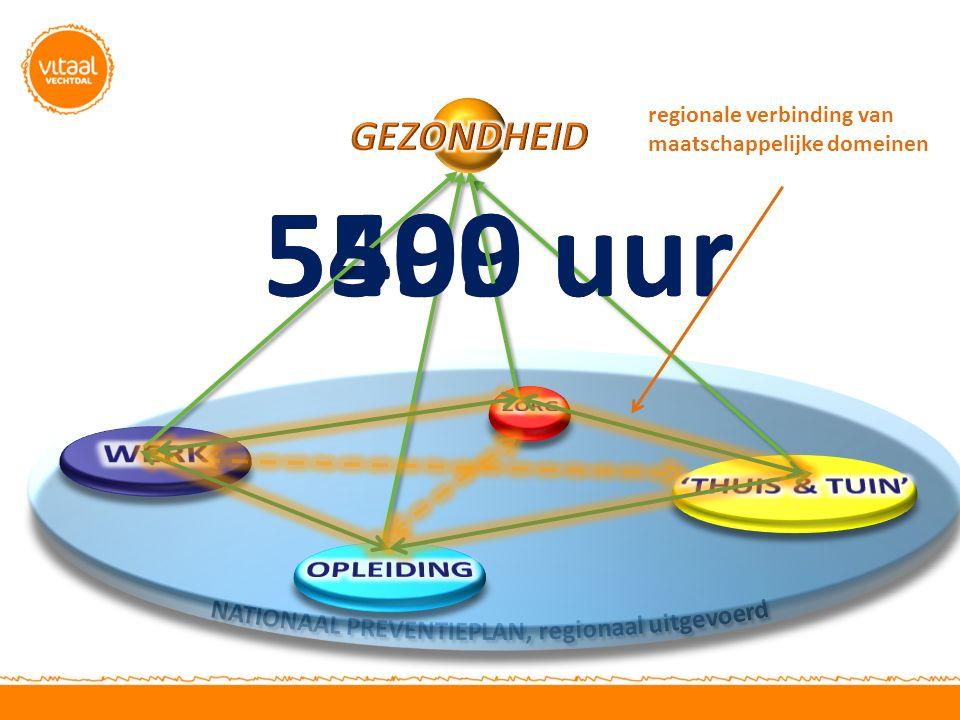 5499 uur5500 uur regionale verbinding van maatschappelijke domeinen