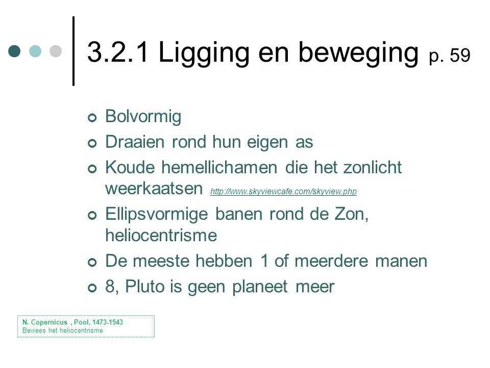 3.2.1 Ligging en beweging p.