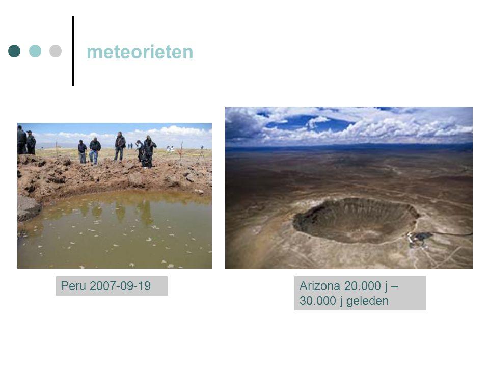 meteorieten Peru 2007-09-19Arizona 20.000 j – 30.000 j geleden