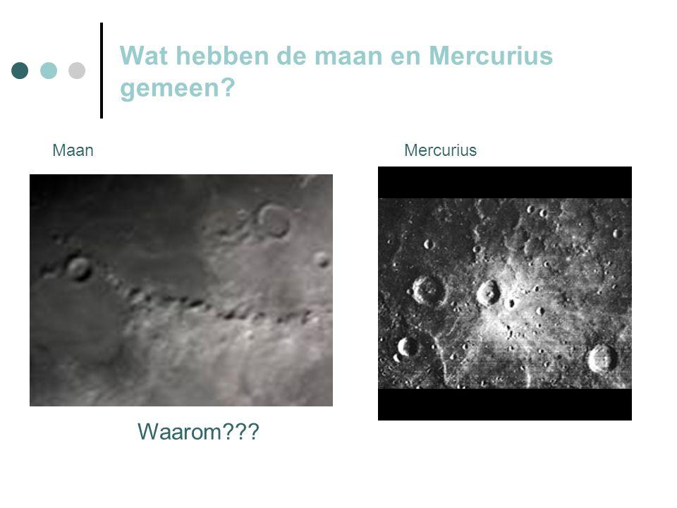 Wat hebben de maan en Mercurius gemeen Waarom MaanMercurius