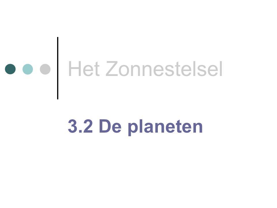 Het Zonnestelsel 3.2 De planeten
