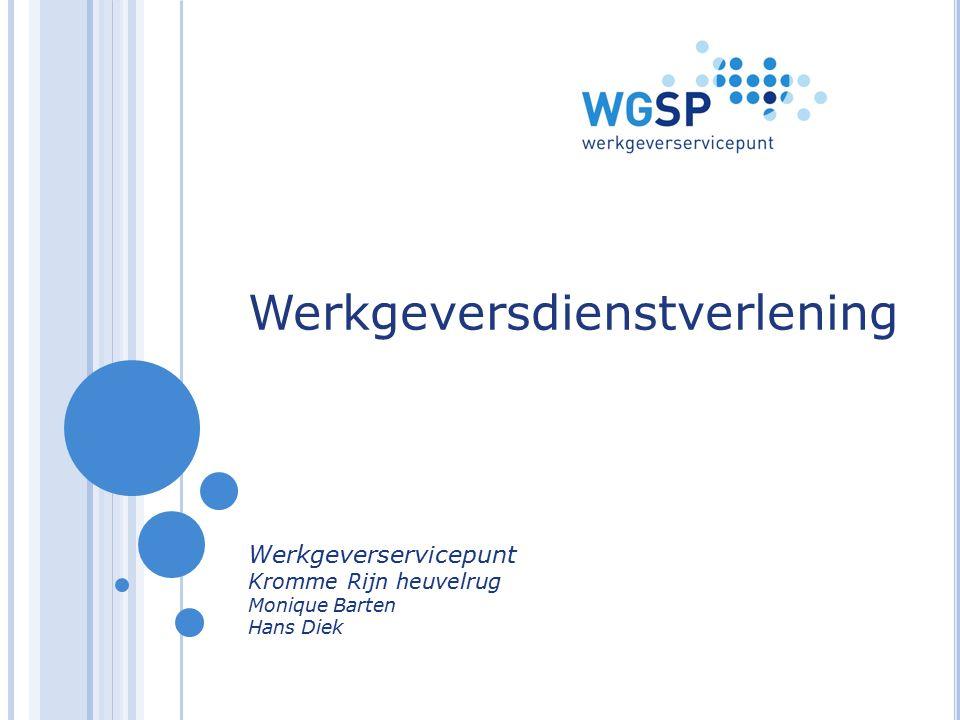 I NHOUD Introductie WGSP Wie zijn we en wat doen we.