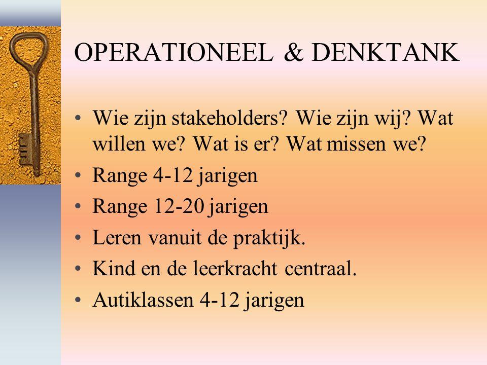 OPERATIONEEL & DENKTANK Wie zijn stakeholders. Wie zijn wij.