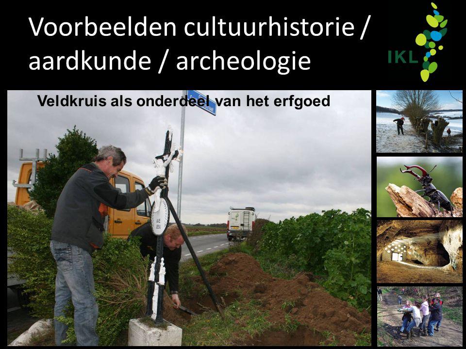 Voorbeelden cultuurhistorie / aardkunde / archeologie Veldkruis als onderdeel van het erfgoed