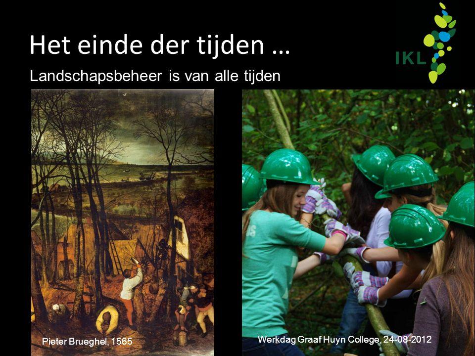 Het einde der tijden … Landschapsbeheer is van alle tijden Pieter Brueghel, 1565 Werkdag Graaf Huyn College, 24-08-2012
