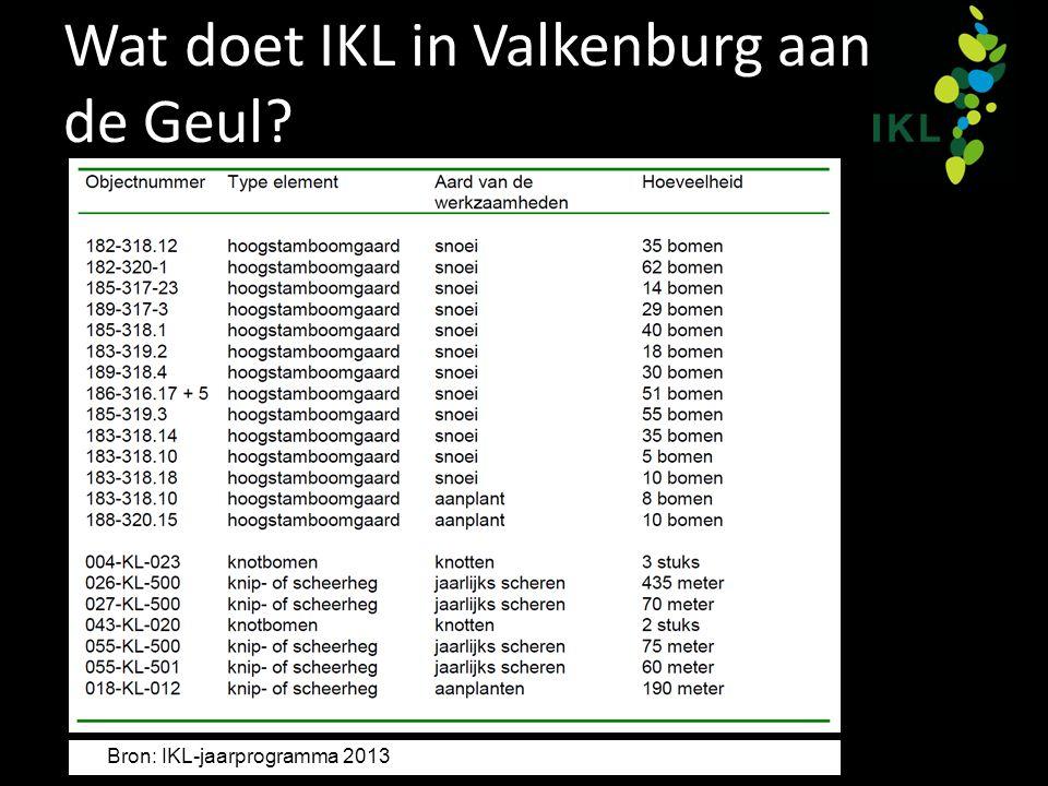 Wat doet IKL in Valkenburg aan de Geul? Bron: IKL-jaarprogramma 2013