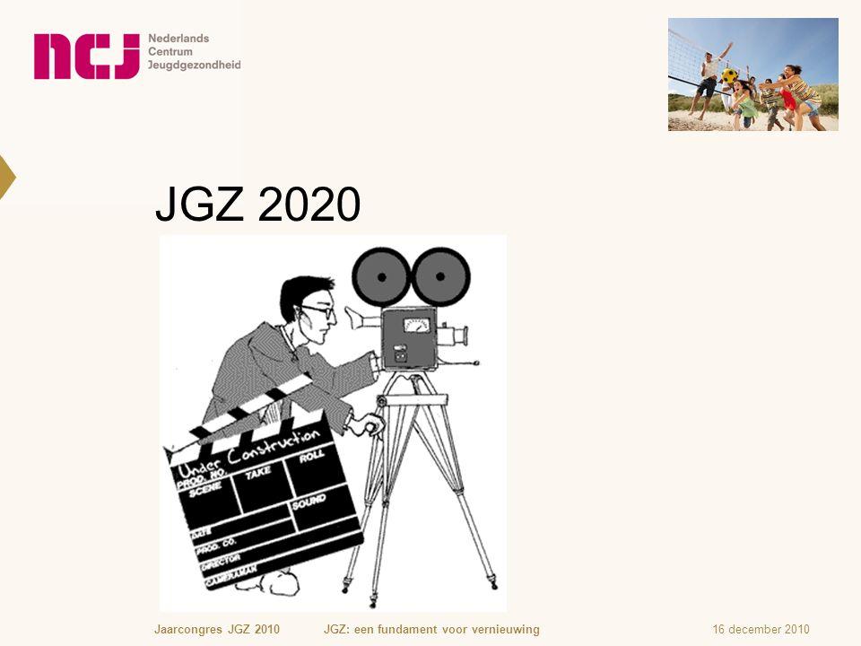 JGZ 2020 16 december 2010Jaarcongres JGZ 2010 JGZ: een fundament voor vernieuwing