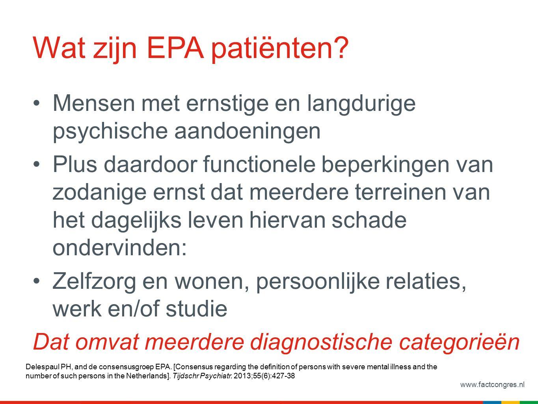 www.factcongres.nl Wat zijn EPA patiënten.