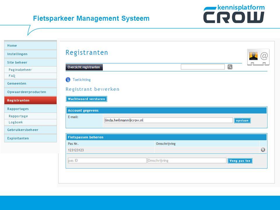 Fietsparkeer Management Systeem