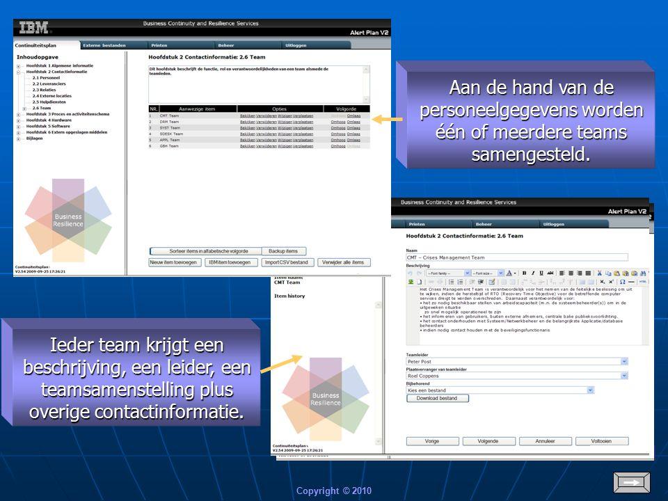 Copyright © 2010 Ander voorbeeld van contactinformatie t.b.v.