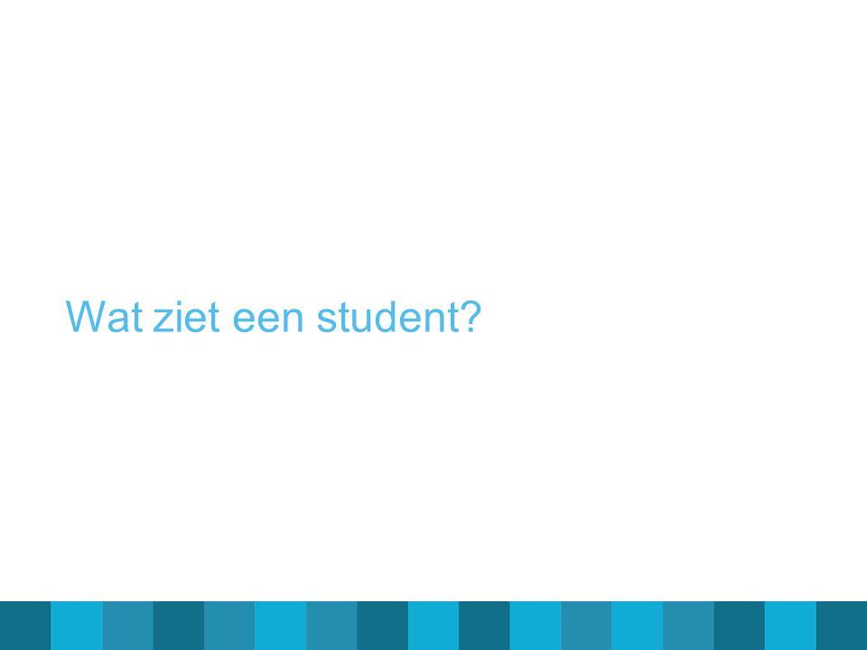 Wat ziet een student