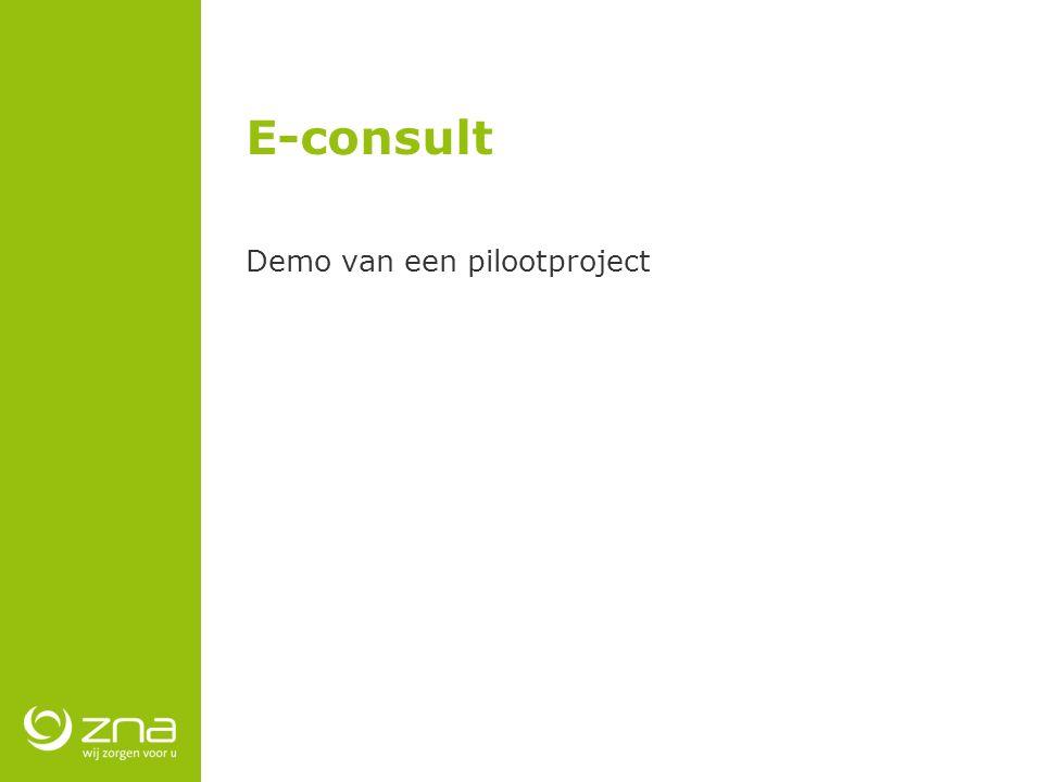 E-consult Demo van een pilootproject