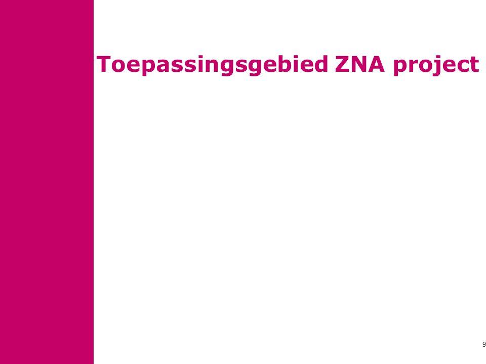 Toepassingsgebied ZNA project 9
