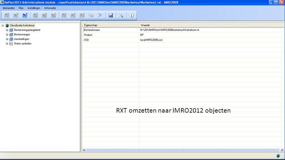 C-SAM het ópen geofundament RXT omzetten naar IMRO2012 objecten