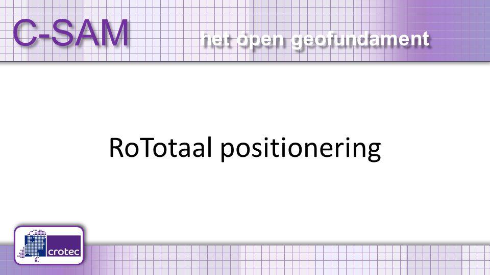 C-SAM het ópen geofundament RoTotaal positionering