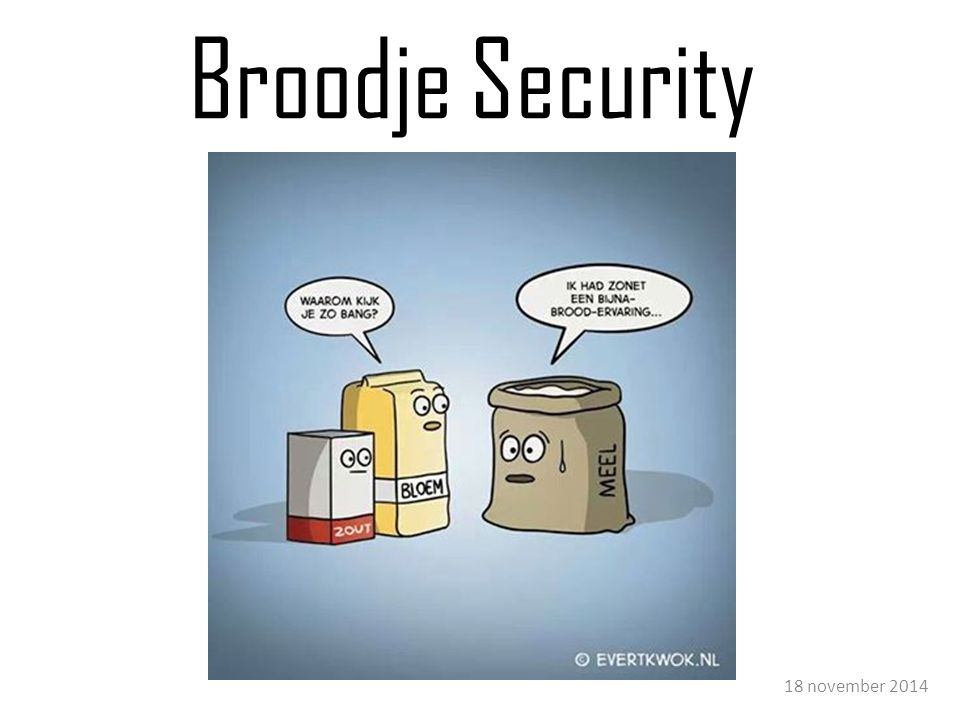 Broodje Security 18 november 2014