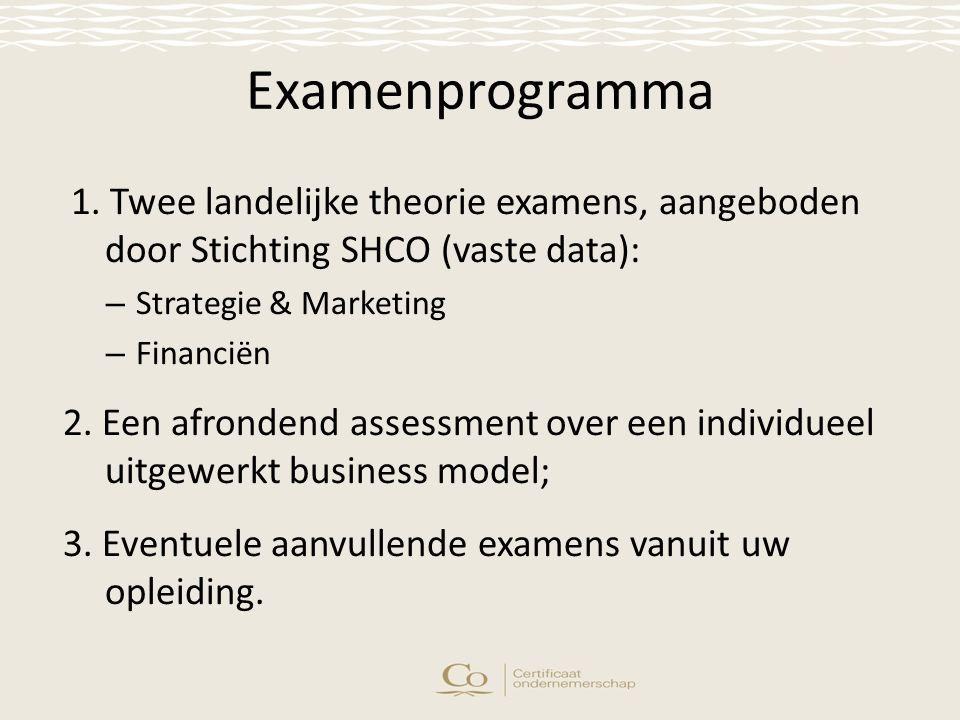 Examenprogramma 1.