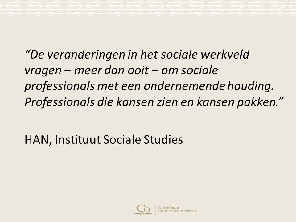 De veranderingen in het sociale werkveld vragen – meer dan ooit – om sociale professionals met een ondernemende houding.