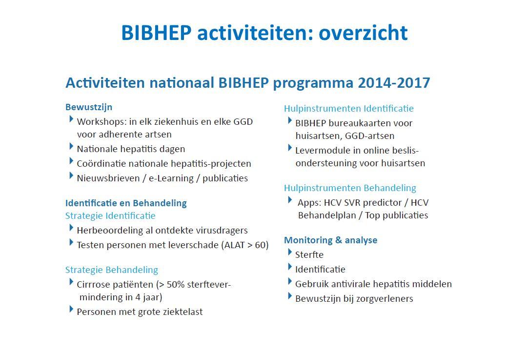 BIBHEP activiteiten: overzicht