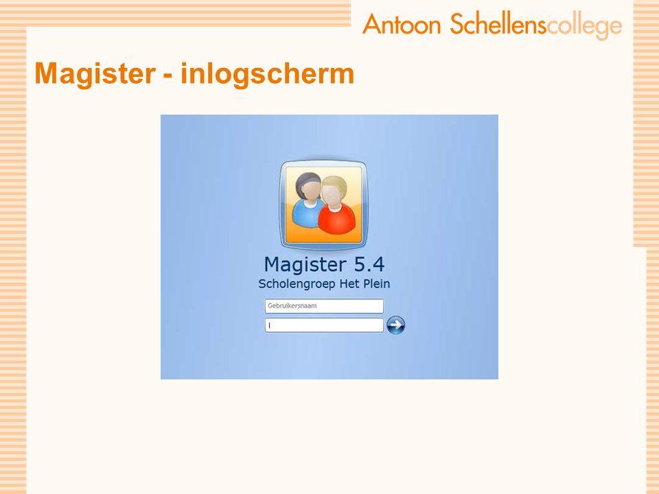 Magister - inlogscherm